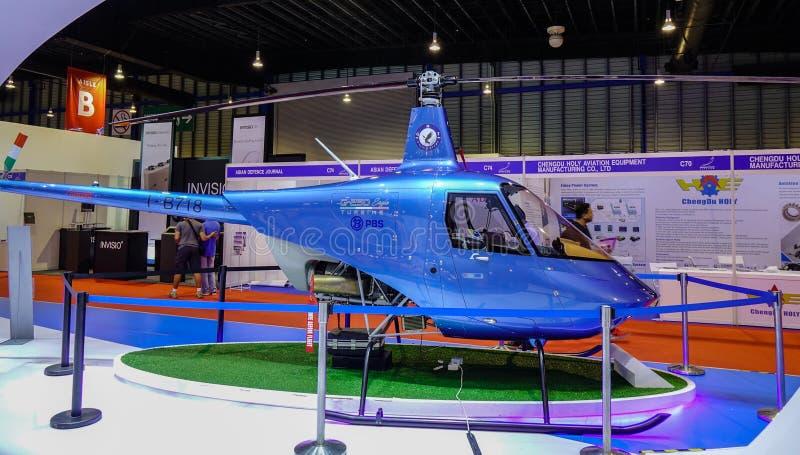 Vorbildliche Flugzeuge der Ausstellung in Singapur stockfotografie