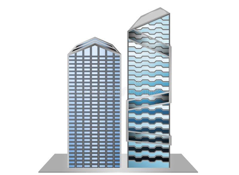 Vorbildliche Probe des Gebäudes vektor abbildung
