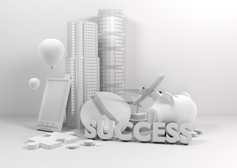Vorbildlicher Geschäfts-Lebensstil lizenzfreie abbildung