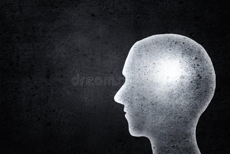 Vorbildlicher Kopf weg geschnitten stockbild