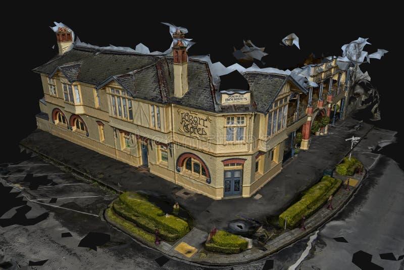 vorbildliches Gebäude 3D Mickey Bourke-` s vektor abbildung