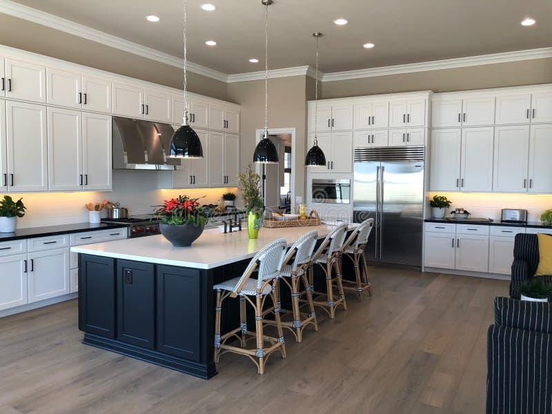Vorbildliches Luxury Home Interior stockfotografie