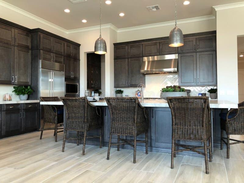 Vorbildliches Luxury Home Interior stockfotos