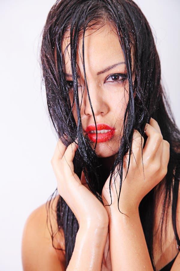 Vorbildliches Porträtwasser stockfoto