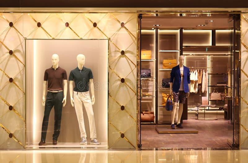 Vorbildliches In Store Showcase. lizenzfreie stockbilder