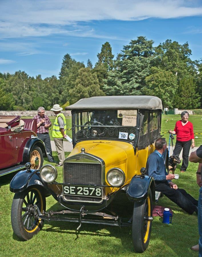 Vorbildliches T offenes Auto Ford-am Brodie Schloss. stockfoto