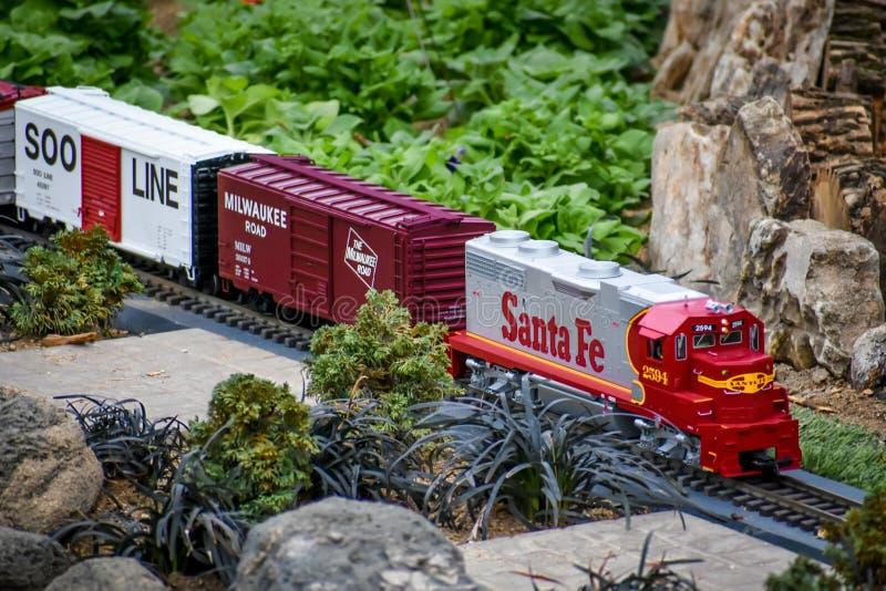 Vorbildliches Train, Santa Fe, Soo Line lizenzfreie stockfotos