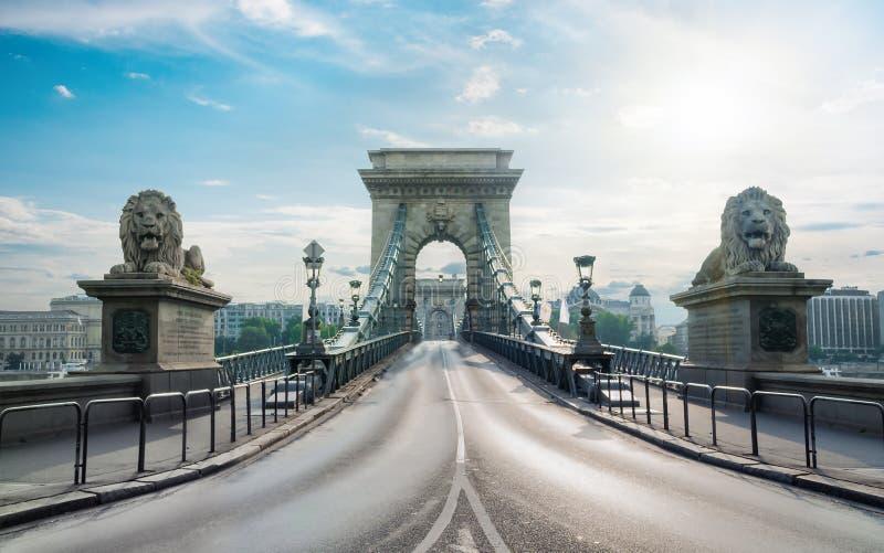 Vorderansicht der Hängebrücke stockbild