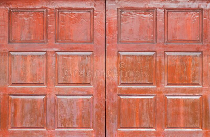 Vorderansicht der Holzpaneele, Fenster oder Türen aus Holz, die als Hintergrund verwendet werden lizenzfreie stockfotos