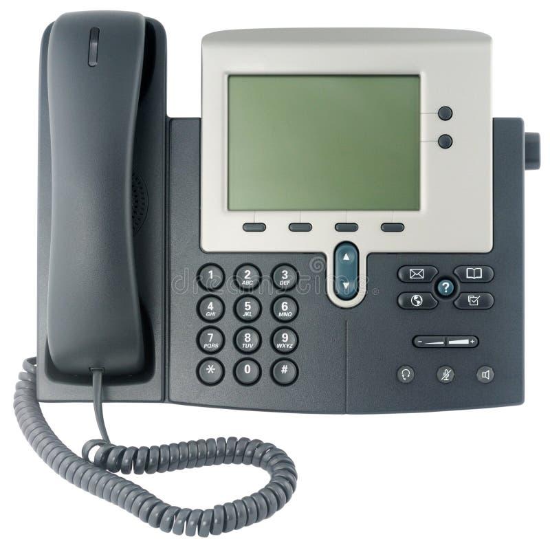 Vorderansicht des BüroTelefonapparates stockbilder