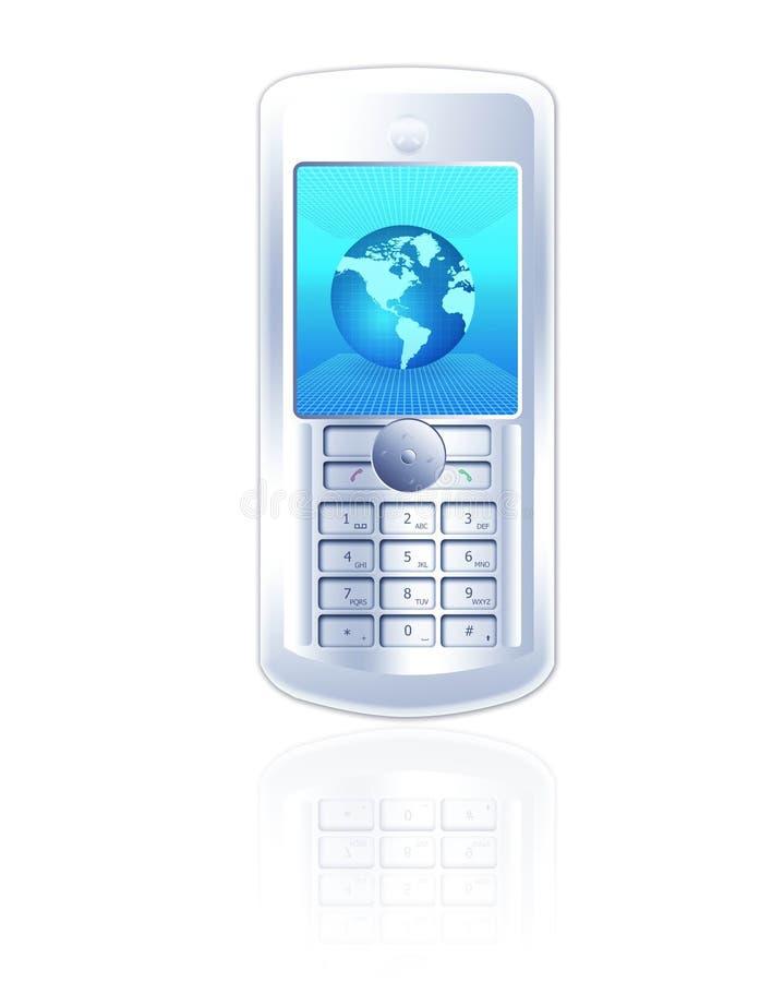 Vorderansicht des Handys lizenzfreie abbildung
