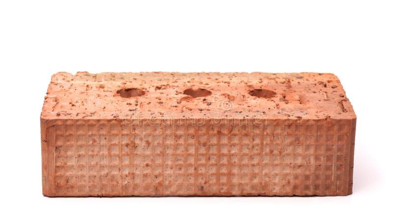 Vorderansicht des roten Keramikziegelsteines lizenzfreies stockfoto