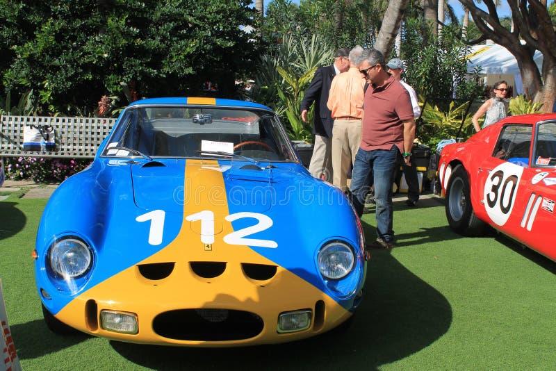 Vorderansicht Ferrari-gto Rennautos stockbild