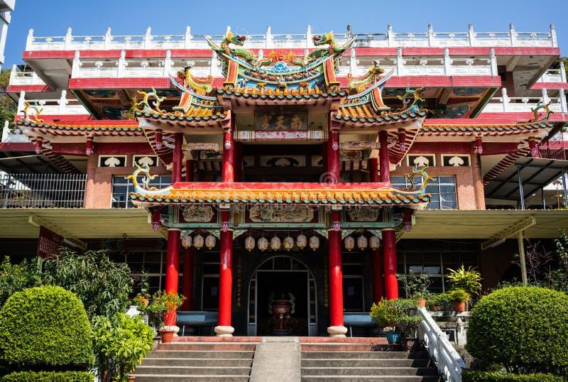 Vorderansicht von Nantian-Tempel in Changhua Taiwan stockbilder
