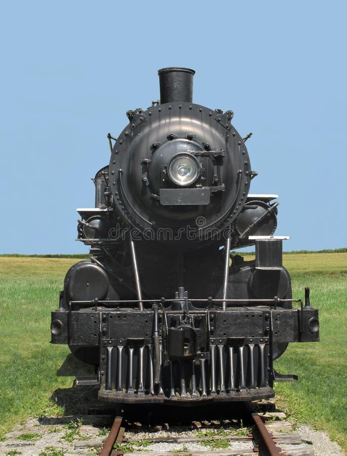 Vorderansichtserien-Dampflokomotive. lizenzfreie stockfotos