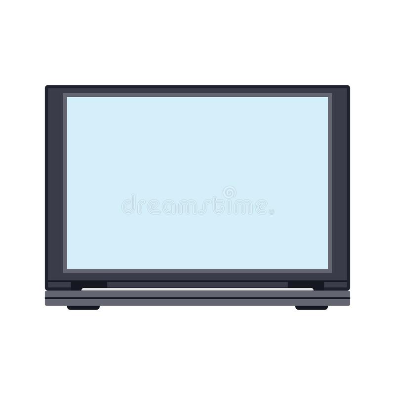Vorderansichtvektorikonengeschäfts-Schirmfreier raum des Laptops Über PC-Ausrüstung flache Anzeige des Notizbuches Persönliches t vektor abbildung