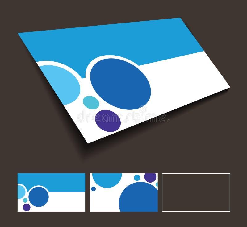 Vordere und rückseitige Visitenkarte stock abbildung