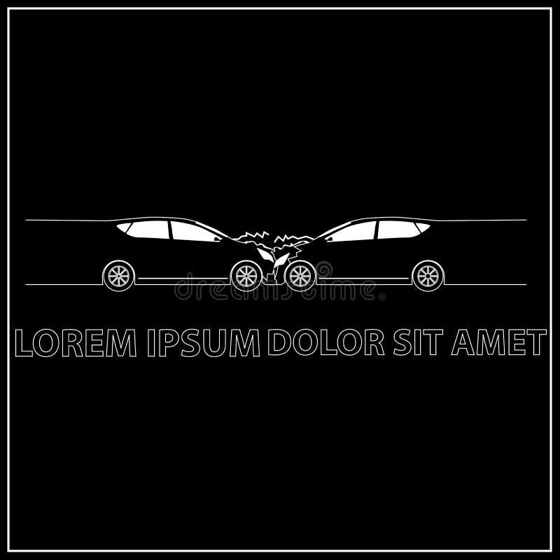 Vorderer Autounfall Und Unfall Durch Weißen Streifen Stockfoto ...