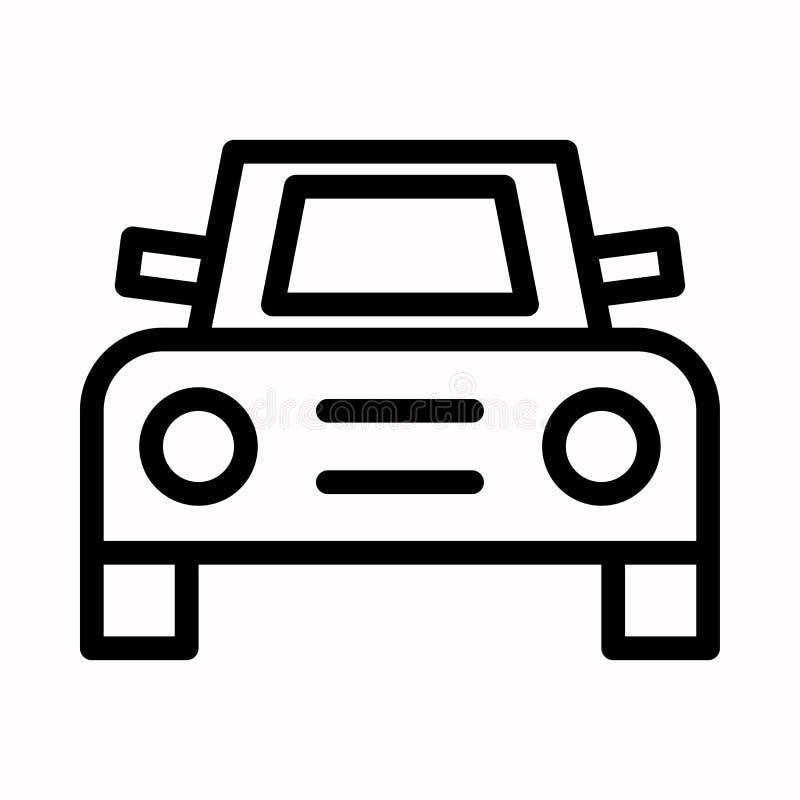 Vorderes Autoikonenvektorlogosymbol oder -illustration vektor abbildung