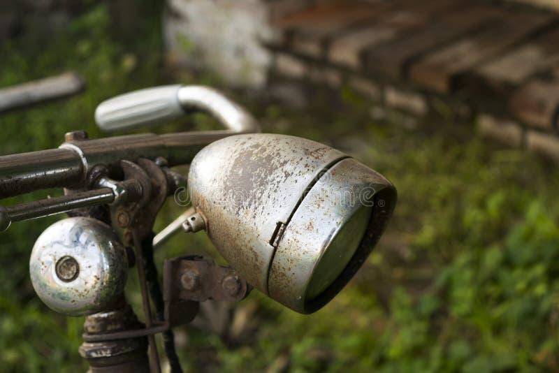 Vorderes Licht des Fahrrades lizenzfreie stockfotografie