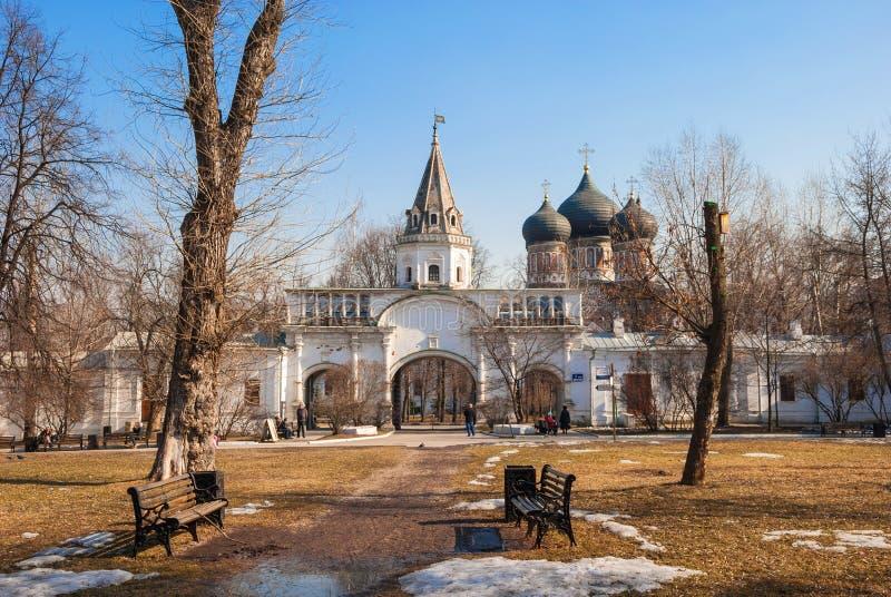 Vorfrühling in Moskau stockfoto