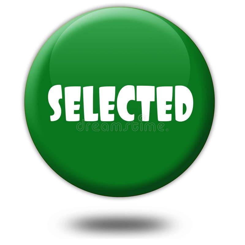 VORGEWÄHLT auf grünem Knopf 3d lizenzfreie abbildung