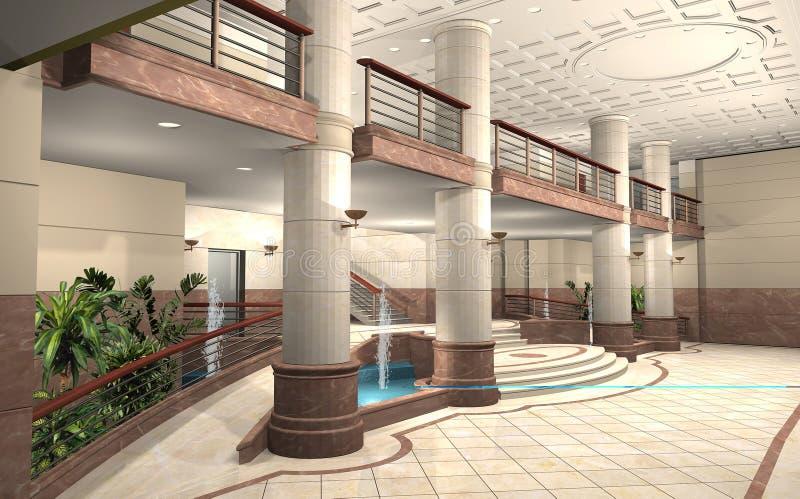 Vorhalle eines Gebäudes lizenzfreie abbildung