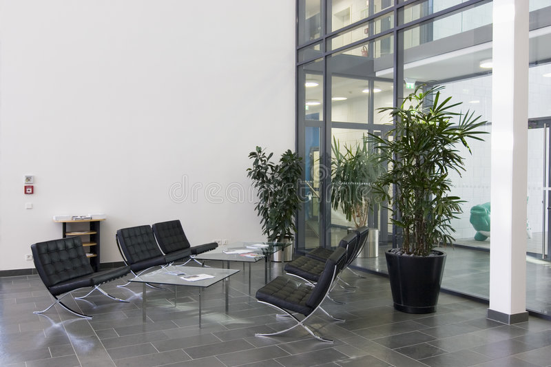 Vorhalle eines modernen Gebäudes lizenzfreies stockbild