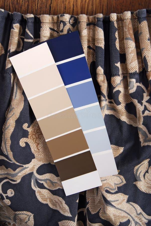 Vorhang und Farbwahl stockfoto