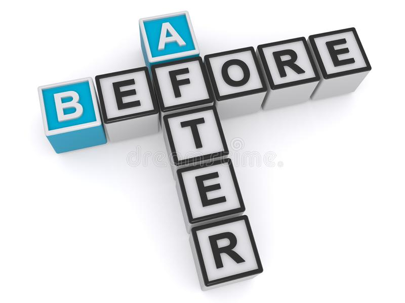 Vorher und nachher vektor abbildung