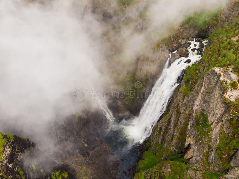 Voringsfossen siklawa, Mabodalen jar Norwegia zdjęcia stock