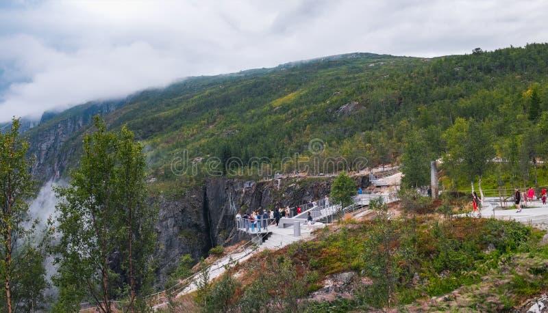 Voringsfossen siklawa w Nordland okręgu administracyjnym, Norwegia zdjęcie stock