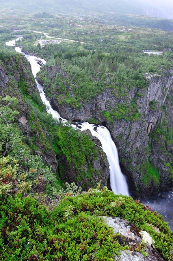 Voringsfossen Waterfall stock image