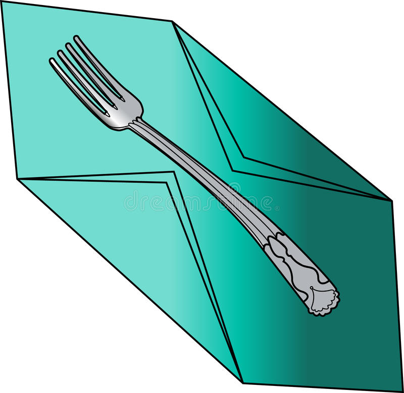 vork royalty-vrije stock afbeelding
