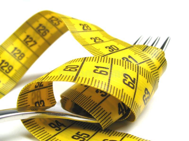 Vork en het meten van band stock foto's