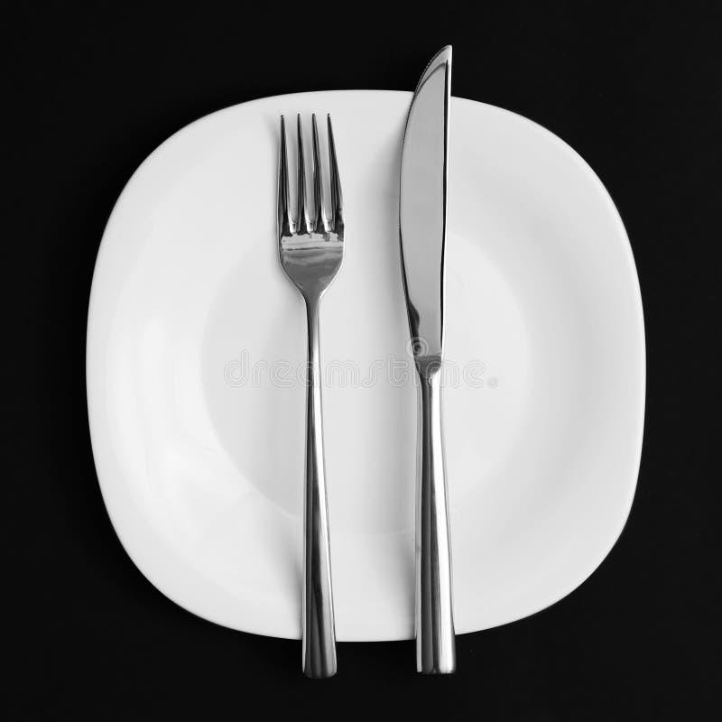 Vork en mes. royalty-vrije stock afbeelding