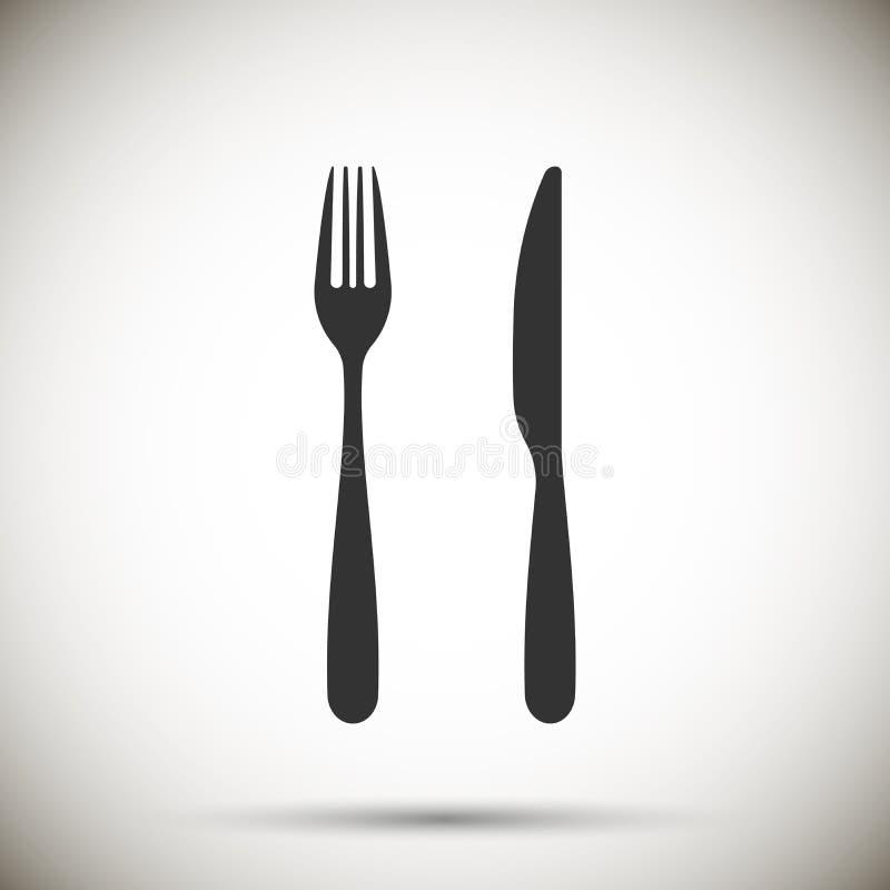 vork en messenpictogram Vector