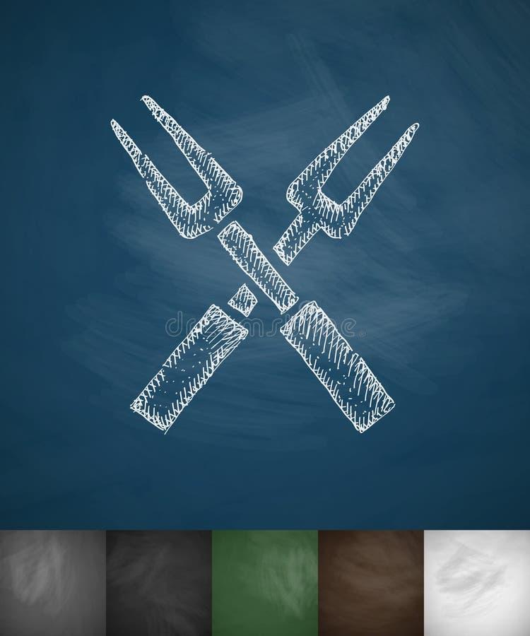 Vorkenpictogram Hand getrokken vectorillustratie vector illustratie