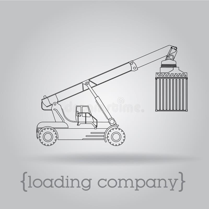Vorkheftruck voor containers royalty-vrije illustratie