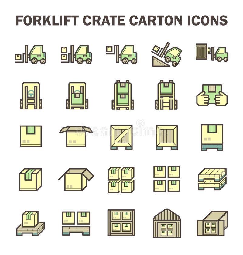 Vorkheftruck werkend pictogram vector illustratie