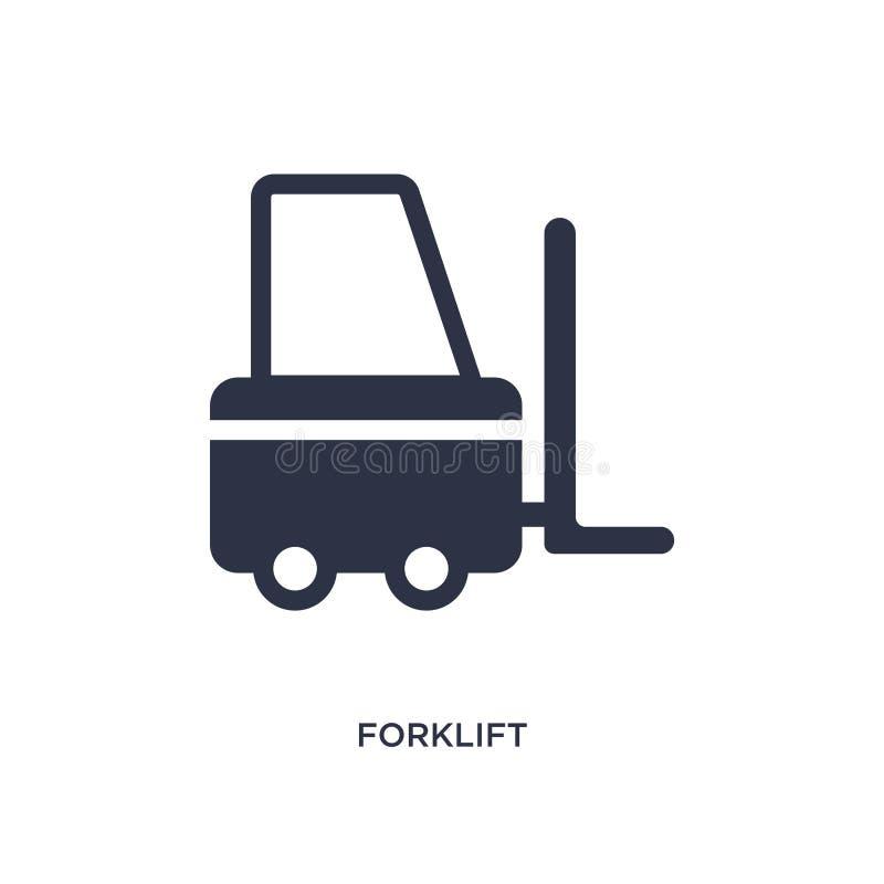 Vorkheftruckpictogram op witte achtergrond Eenvoudige elementenillustratie van levering en logistisch concept vector illustratie