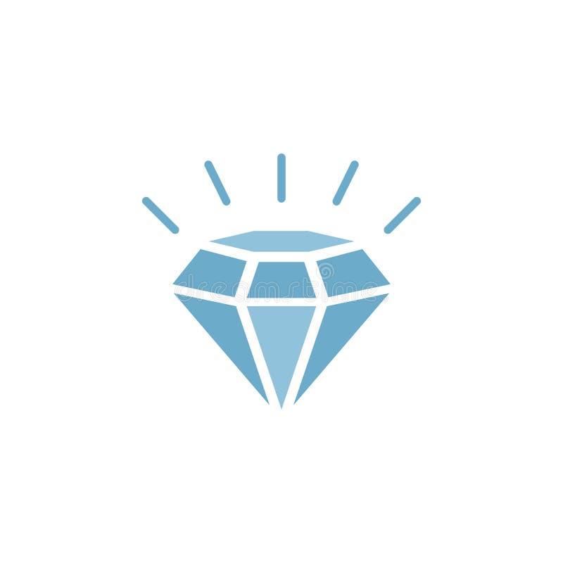 Vorlage für Diamantlogos stock abbildung