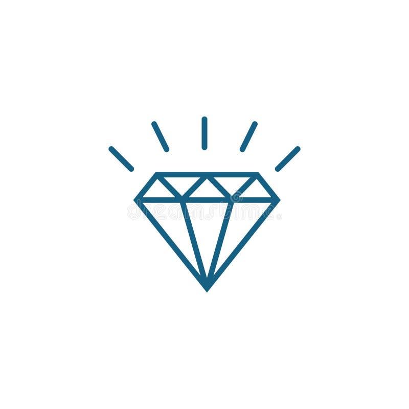 Vorlage für Diamantlogos lizenzfreie abbildung