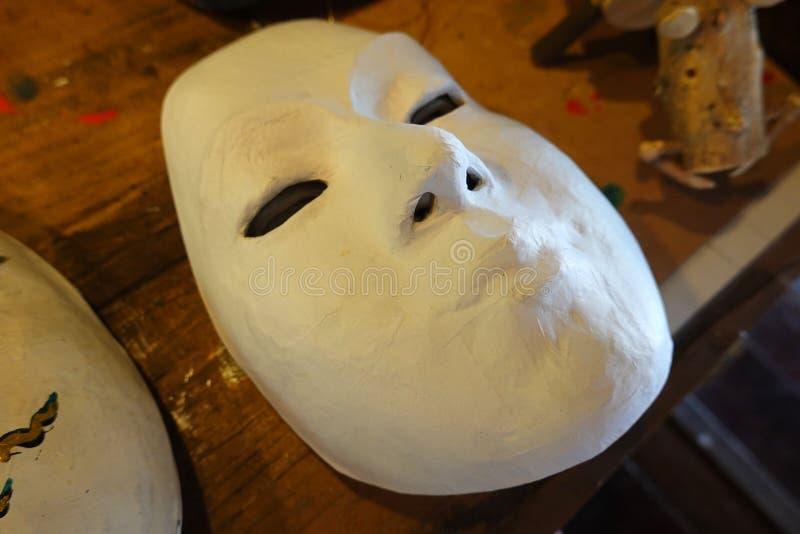 Vorlagen für gestrichene Masken aus weißem Papier lizenzfreie stockfotografie