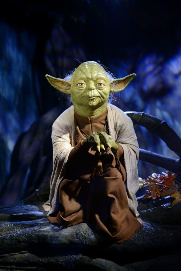Vorlagen-Yoda - Madame Tussauds London stockfotos