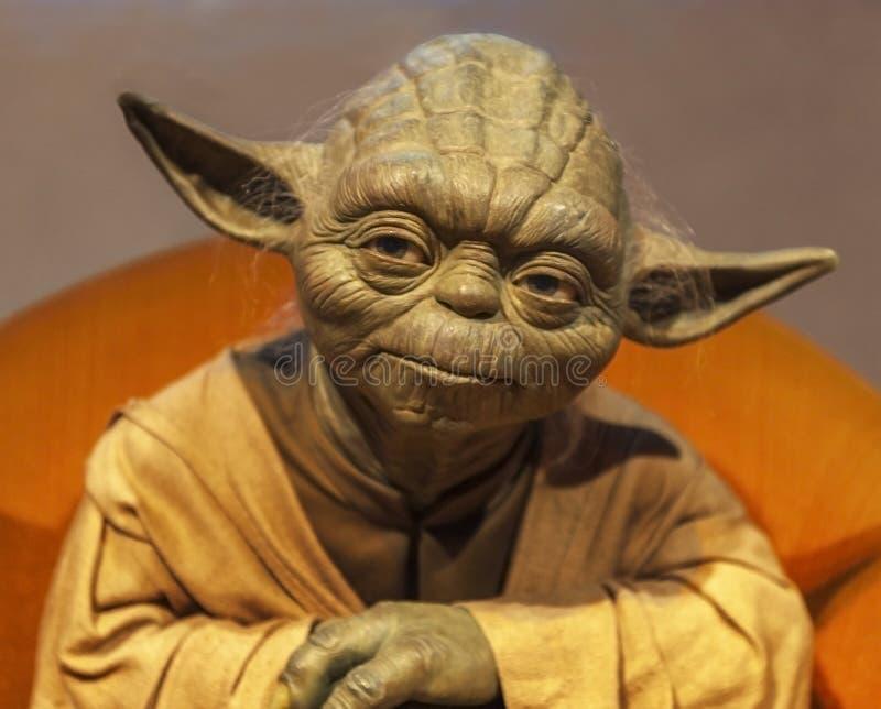 Vorlagen-Yoda-Wachsfigur lizenzfreie stockfotografie