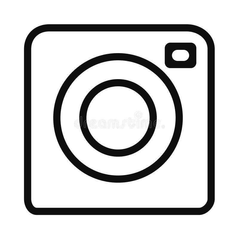 Vorlagenentwurf für Kamerafotografie-Symbol mit Logo stock abbildung