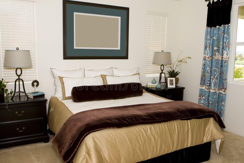 Vorlagenschlafzimmer lizenzfreie stockbilder