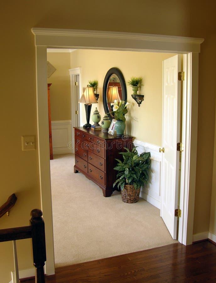 Vorlagenschlafzimmer-Eingang stockbilder