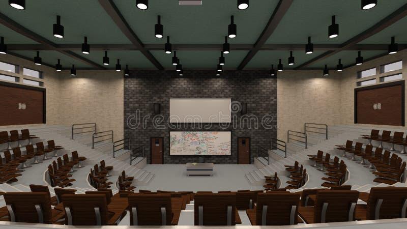 Vorlesungssal der Wiedergabe3d stock abbildung